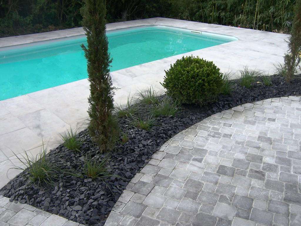 Galerie ext rieur piscine marbrerie yelmini saint for Galerie exterieur maison